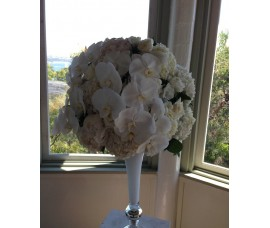 Tall White Ceremony Vases