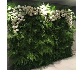 Flower wall panels