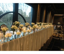 Bridal table mirror bases